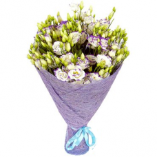 Buchet 15 eustoma