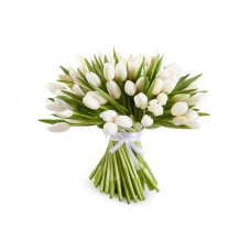 Buchet 19 lalele albe