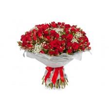 Buchet 31 trandafiri tross rosii