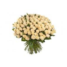 Buchet 101 trandafiri crem