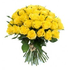 Buchet 33 trandafiri galbeni